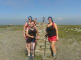 Gayle, Kate and Hayley at the top of Ingleborough