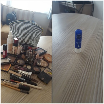 Hayley's make-up and my 'make-up'!