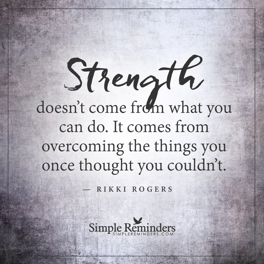 The strength in you