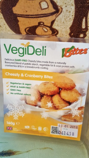 VBites Cheezly and Cranberry Bites